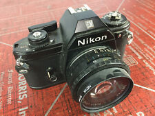 **Vintage Nikon EM 35mm Film Camera Lens SLR Black 50mm Photography
