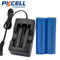 Lithium ICR18650  Rechargeable Battery 2200mAh 3.7V 2pcs plus 1pc dual charger