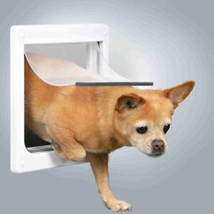 Trixie 2 Way Big Cat Pet Small Dog Flexi Flap Lockable Door Silent Strong White