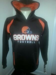 CLEVELAND BROWNS Hooded Sweatshirt Youth Small (8) New with Tags Kids NFL
