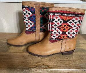 Souli X Souli Urban Renewal Kilim Boots Size 10