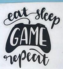 Eat Sleep Game Repeat Mug Decal Sticker Vinyls Funny Cup Glass Crafts DIY Uni