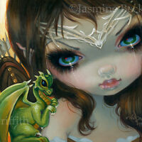 Fairy Face 221 Jasmine Becket-Griffith Dragonling Archer Faery SIGNED 6x6 PRINT