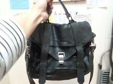 Proenza Schouler PS1 black leather bag messenger shoulder crossbody satchel CUTE