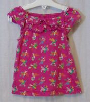 Baby Girls Mothercare Pink Hummingbirds Cap Sleeve Tunic Top Age 12-18 Months