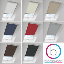 BLACKOUT SKYLIGHT ROLLER BLINDS FOR ALL VELUX ROOF WINDOWS EASY FIT CHILD SAFE