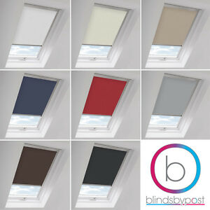 BLACKOUT THERMAL SKYLIGHT BLINDS COMPATIBLE WITH VELUX ROOF WINDOWS - ALL SIZES