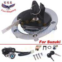 For Suzuki GSXR600/750/1000 2003-15 Ignition Switch Fuel Gas Cap Lock Key Set US