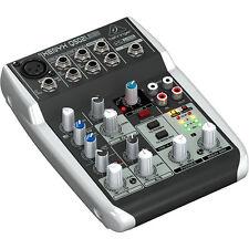 Behringer Xenyx Q502USB 5-Input 2-Bus Mixer 3 Band EQ USB Audio Interface NEW