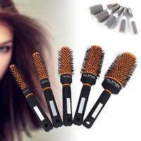 5 Sizes Style Ceramic Iron Round Comb Hair Dressing Brush Salon Styling Barrel