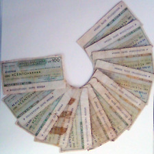Lotto Banca Cattolica del Veneto di mini-assegni anni '70