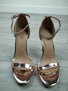 WOMENS LADIES HIGH HEEL PEEP TOE BARELY THERE ANKLE STRAP SANDALS SIZE UK 6