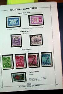 Boy Scout Stamps Nat'l. Jamboree Persia, Pakistan, Vietnam 1956-60 Mint H185