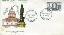 FRANCE FDC - 304 1210 2 DAVID D'ANGERS 13 6 1959