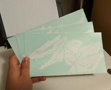 """3X Zoids Berserk Fury Decals, White, 7.5 x 4"""""""