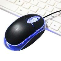 3D 800 DPI LED USB 2 Optical Wheel Wired Mouse for Laptop Notebook computer+Good