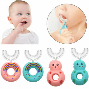 Unisex Children's Toothbrush U-Shape Baby Kids Oral Cleaning Soft Silicone Brush