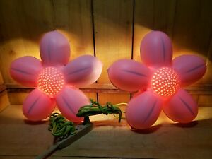 2 Ikea Wall Lights Pink Flower Smila Blomma  Light Bulbs Included