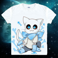 Summer Game Undertale Sans Papyrus Unisex White Short Sleeve T-Shirt Tops