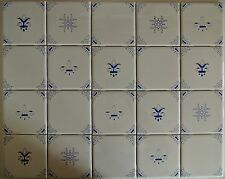 Blue and White Delft Style Country French Kitchen Tiles