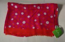 Vera Bradley soft fringe Orange and Pink dots NWT Scarf