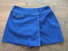 1970s White Stag ROYAL Blue NAUTICAL Skort Shorts Mini Skirt WHITE STITCHING MED