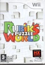 Nintendo Wii PAL VERSION Rubiks Puzzle World ITALIANO