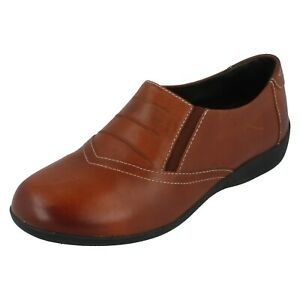 Damen PADDERS Hellbraun Leather Slip On Schuhe VALLEY Ee Passform