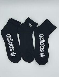 Adidas Ankle Socks Size Large Black 3 Pack Big Logo Adidas Everyday Socks