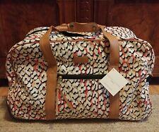 Adrienne Vittadini Duffle Luggage Bag On Wheels