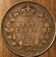 1907 CANADA SILVER 5 CENT