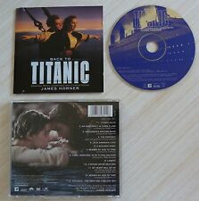CD BOF BACK TO TIATANIC MUSIQUE DE FILM JAMES HORNER 13 TITRES