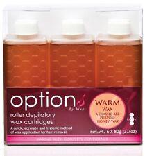 6 x WARM Original Honey Roller Wax Cartridges 80g Hive of Beauty System