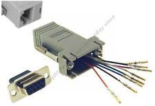 10pk DB9 pin Female~RJ45 Modular Adapter 8P8C for Network/Ethernet,Cat5e/6$SHdis