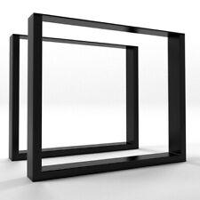 2x Piedi tavolo gambe a forma di U  - metal table Steel legs  - Pieds de table