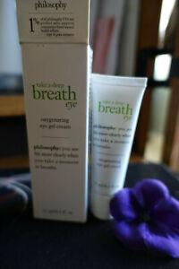 philosophy take a deep breath eye  oxygenating gel eye cream new in box 0.5 oz