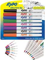 EXPO Low-Odor Dry Erase Markers Ultra Fine Tip Assorted Colors Whiteboard 8 PCs