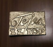 Vintage 1970s Tejas ZZ Top Album Art Artwork Band Music Fan Belt Buckle