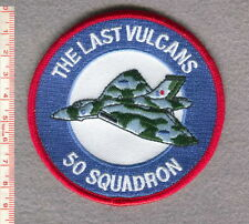 """ROYAL AIR FORCE 50 SQUADRON """"THE LAST VULCANS"""" PATCH."""
