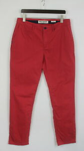 HELLY HANSEN CRE 51538J Men W34/L34 Zip Fly Punch / Rose Chino Trousers 25855-JS