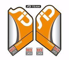 Rock Shox SID Team Mountain Bike Cycling Factory Decal Kit Sticker Orange
