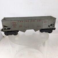 Lionel 6456-25 Gray Grey Lehigh Valley Coal Hopper Car Postwar O O27 Gauge