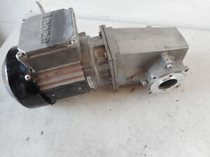 REXROTH 3 PH MOTOR plus RIGHT ANGLE GEARBOX 0.18kW 60:1 Ratio GKR04-2MHGR-071-13