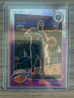 2019-20 NBA Hoops Premium Stock Zion Williamson Purple Disco Prizm #296 PSA MINT