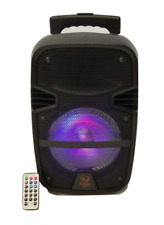 "iPhoenix 8"" Party Outdoor Rechargeable Portable Bluetooth Speaker LED Light"