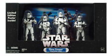 Hasbro Star Wars Clone Trooper 4-Pack White With Battle Damage Vintage Limited