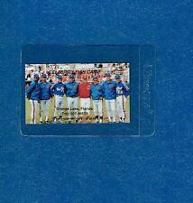 1986 New York Mets Coaches Whitey Herzog Business Card Facsimile Signed Auto