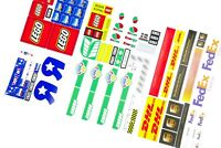 Die Cut Replacement Stickers for lego 3221 7848 10156 7733 3180 + MOC CITY truck