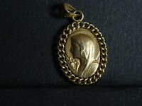 ancienne medaille religieuse Virgin Mary  2 x 1.3 cm MR 0957