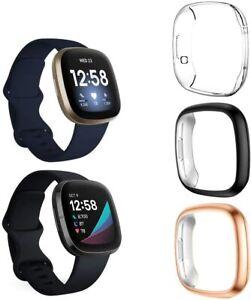 Fitbit Versa 3 SE Screen Protector TPU Full Protective Cover Bumper  3pcs/Set